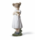 Lladro Flowers For Mommy Porcelain Figurine