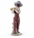 Lladro Gathering Flowers 60Th Anniversary Porcelain Figurine