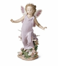 Lladro Girl with Butterfly Wings Porcelain Figurine