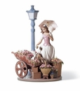 Lladro Girl with Flowers For Everyone Porcelain Figurine