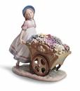 Lladro Girl with Love's Tender Tokens Porcelain Figurine