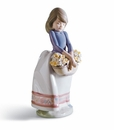 Lladro Girl With May Flowers Porcelain Figurine