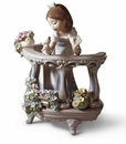 Lladro Girl with Morning Song Porcelain Figurine