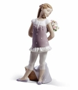 Lladro Girl With Your Favorite Flowers! Porcelain Figurine