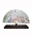Lladro Iris and Cherry Flowers Fan Porcelain Figurine