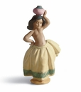 Lladro Little Peasant Girl (White) Figurine