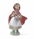 Lladro Little Red Riding Hood Porcelain Figurine