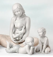Lladro Mother, Father, Grandparents and Family Figurines