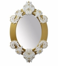 Lladro Oval Mirror White and Gold