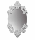 Lladro Oval Mirror Without Porcelain Frame White