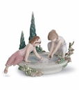 Lladro Petals In the Pond Porcelain Figurine