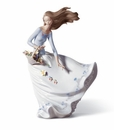 Lladro Petals of the Wind Lady Porcelain Figurine
