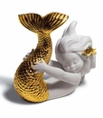 Lladro Playing At Sea Golden Re-Deco Porcelain Figurine