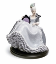 Lladro Rococo Lady At The Ball Figurine