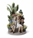Lladro Secrets In The Park - Boy and Girl Figurine