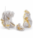 Lladro Silent Night Re-Deco Porcelain Nativity Set in Gift Box