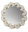 Lladro Spiral Mirror White and Gold
