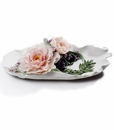 Lladro Tray With Peonies Porcelain Figurine