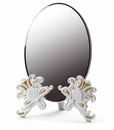 Lladro Vanity Mirror White and Gold