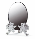 Lladro Vanity Mirror White and Silver