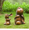 Lol Rabbit Pair Garden Sculpture by SPI Home