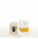 Lucid Liquid Candles -  3x4 Bee Natural Pillar Candle
