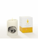 Lucid Liquid Candles -  3x4 Eye Natural Pillar Candle