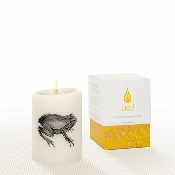 Lucid Liquid Candles -  3x4 Frog Natural Pillar Candle