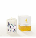 Lucid Liquid Candles -  3x4 Love What You Do Natural Pillar Candle
