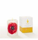 Lucid Liquid Candles -  3x4 Poppy on Natural Pillar Candle