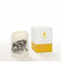 Lucid Liquid Candles -  3x4 Snake Natural Pillar Candle
