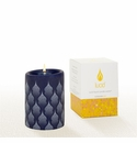 Lucid Liquid Candles -  3x4 White on Indigo Taj Mahal Pillar Candle