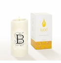 Lucid Liquid Candles -  3x6 Florentine B Natural Pillar Candle