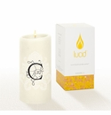 Lucid Liquid Candles -  3x6 Florentine C Natural Pillar Candle