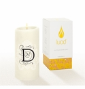 Lucid Liquid Candles -  3x6 Florentine D Natural Pillar Candle