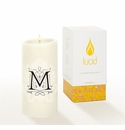 Lucid Liquid Candles -  3x6 Florentine M Natural Pillar Candle