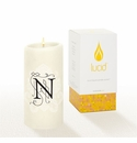 Lucid Liquid Candles -  3x6 Florentine N Natural Pillar Candle