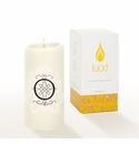 Lucid Liquid Candles -  3x6 Florentine O Natural Pillar Candle