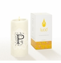 Lucid Liquid Candles -  3x6 Florentine P Natural Pillar Candle
