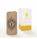 Lucid Liquid Candles -  3x6 Lowey I Khaki Pillar Candle