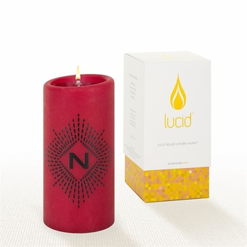 Lucid Liquid Candles -  3x6 Lowey N  Ruby Pillar Candle