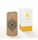Lucid Liquid Candles -  3x6 Lowey S Khaki Pillar Candle