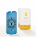 Lucid Liquid Candles -  3x6 Lowey T French Blue Pillar Candle