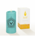 Lucid Liquid Candles -  3x6 Lowey V Azure Pillar Candle