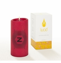 Lucid Liquid Candles -  3x6 Lowey Z  Ruby Pillar Candle