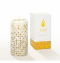 Lucid Liquid Candles -  3x6 Sheer Natural Etoile Pillar Candle