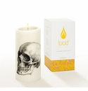 Lucid Liquid Candles -  3x6 Skull Natural Pillar Candle