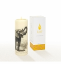 Lucid Liquid Candles -  3x8 Elephant Natural Pillar Candle