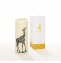 Lucid Liquid Candles -  3x8 Giraffe Natural Pillar Candle