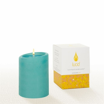 Lucid Liquid Candles -  Azure 3x4 Pillar Candle